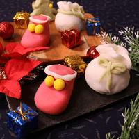 練り切り和菓子のサンタブーツ