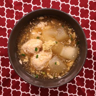 夏の野菜!冬瓜と鶏団子の煮物