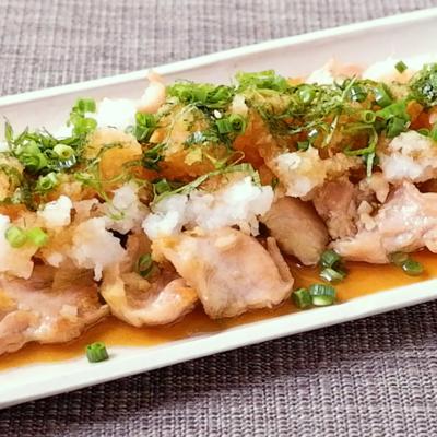 簡単 鶏ハラミおろしポン酢