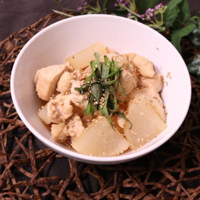 簡単!大根と鶏胸肉の生姜煮