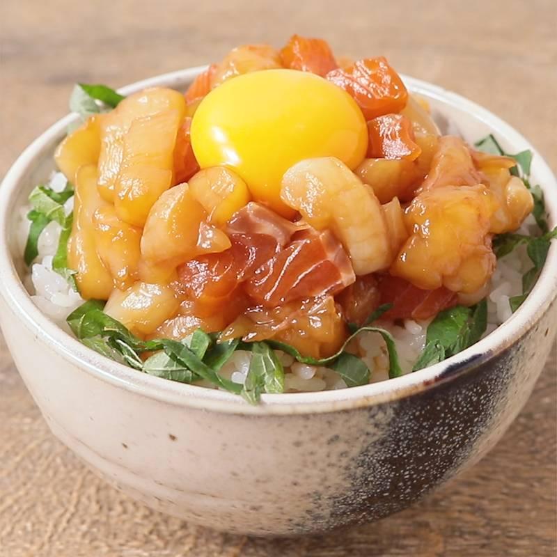 """漬け 丼 たれ マグロ 刺身の切り落としでOK☆絶品""""漬け丼"""" レシピ・作り方"""