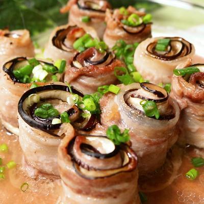 オーブンで簡単おしゃれ!ナスと豚肉のくるくる巻き