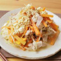 豚こま肉と野菜の味噌炒り豆腐