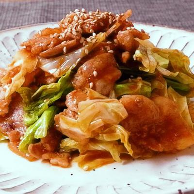 豚肉とキャベツの韓国風みそ炒め
