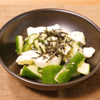 たたききゅうりとたたき長芋のサラダ