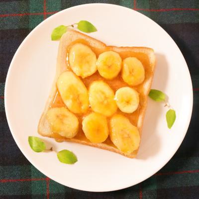 バターキャラメルバナナトースト
