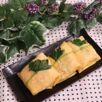 鮭大葉の茶巾寿司