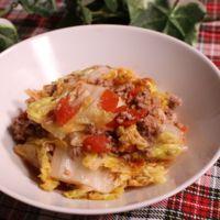 レンチンで白菜のトマト煮