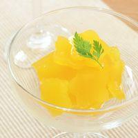 型抜きオレンジジュースゼリー