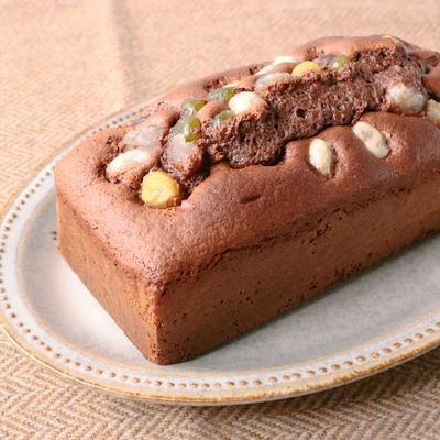 ゴロゴロ甘納豆の チョコパウンドケーキ
