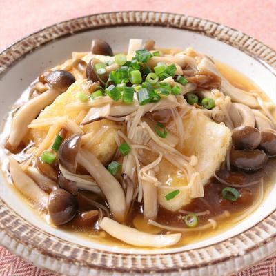 たっぷりきのこあんの中華風揚げだし豆腐