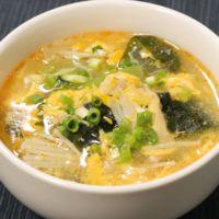 冬瓜とわかめのピリ辛とろたまスープ
