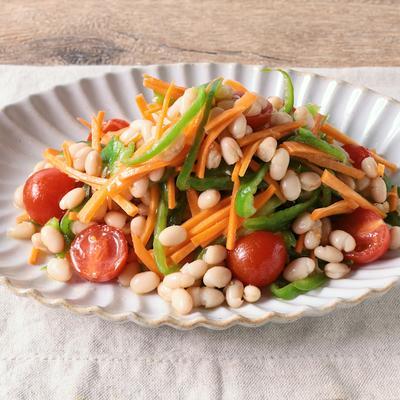 白いんげん豆と彩り野菜のマリネ