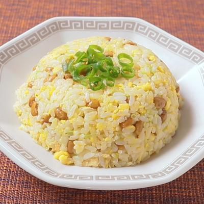 千切りキャベツの納豆チャーハン