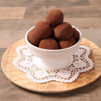材料3つで簡単 チョコレートトリュフ