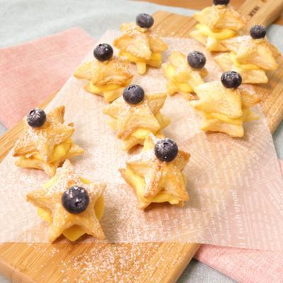 七夕に食べたい 星形ミニカスタードパイ