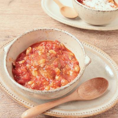 サバ缶で作るトマトビーンズ煮