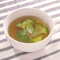 ブロッコリーとえのきのスープ
