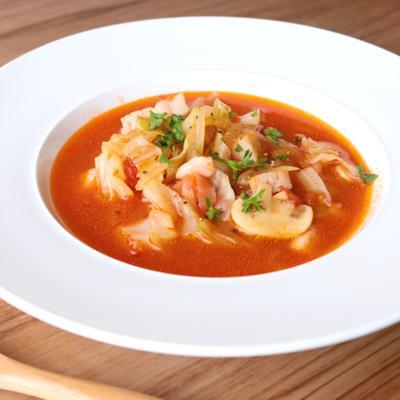 簡単 たっぷり野菜のトマトスープ