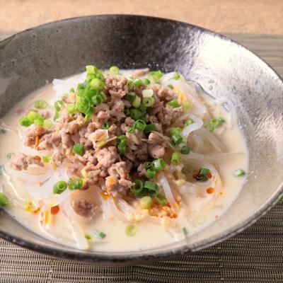 つるつる食感の冷やし担々麺風