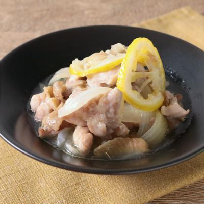 鶏もも肉のあっさりレモン煮込み