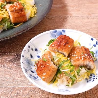 みょうが香る うなぎのちらし寿司