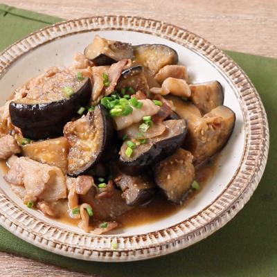 米ナスと豚バラ肉の味噌炒め