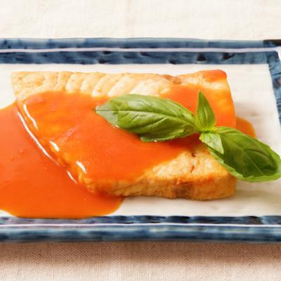 トマトジュースでメカジキの洋風煮付け