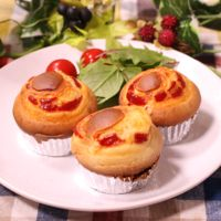 ホットケーキミックスで簡単ウインナーとチーズマフィン