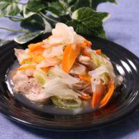 レンジで簡単!鶏肉と野菜のさっぱりレモンソースがけ