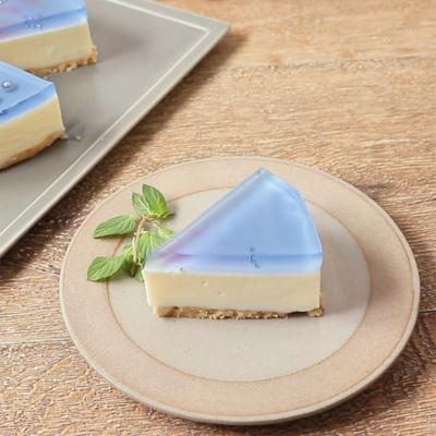 バタフライピーのレアチーズケーキ