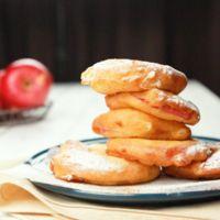りんごの輪切りドーナツ