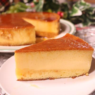 1度に2つの味!ぷるぷるふわふわプリンケーキ