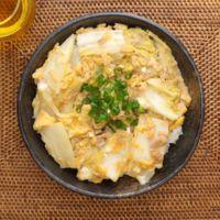 簡単 白菜とツナの卵とじ丼