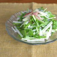 さっぱり 大根と水菜の甘酢サラダ