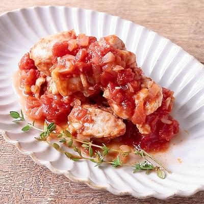 ピリッとスパイシー チキンのトマト煮
