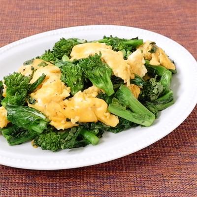菜の花と卵の中華炒め