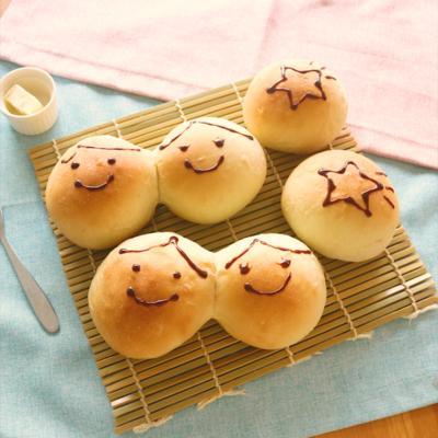 七夕に 仲良しあんパン