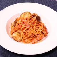 レンジで簡単!トマトパスタ