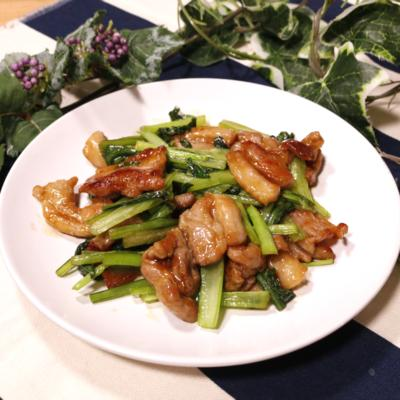 コクうま!小松菜と豚バラ肉のオイスター炒め
