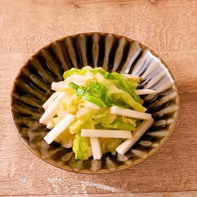 長芋とキャベツの酢めんつゆ和え