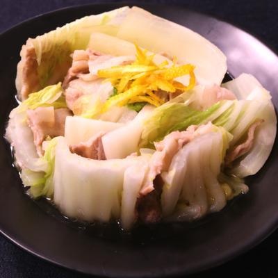 優しい味わい!豚肉と白菜の重ね蒸し