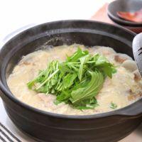 大根と豚肉の豆乳みそ鍋