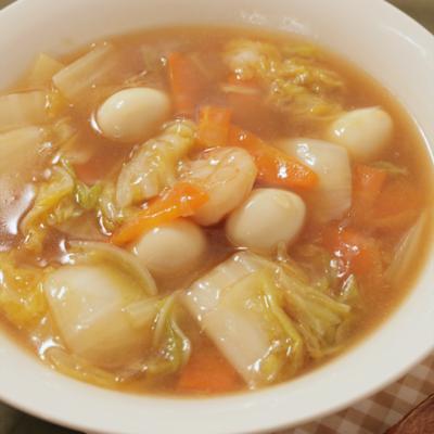 白菜とエビのトロトロ中華炒め