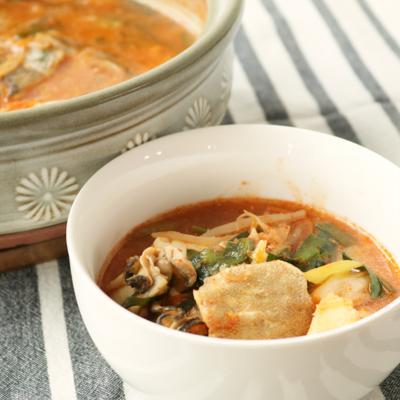 旨味溢れる海鮮キムチ鍋