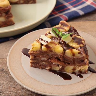 もっちり甘いチョコバナナココナッツケーキ