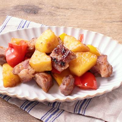 豚バラとパイナップル甘辛炒め