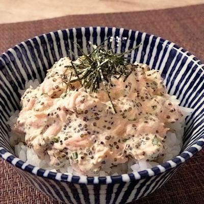 ツナマヨととんぶりのお手軽丼