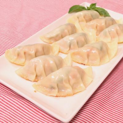 ガパオ風 鶏肉のバジル餃子