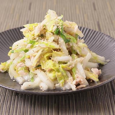 やみつき 白菜とツナのうま塩和え